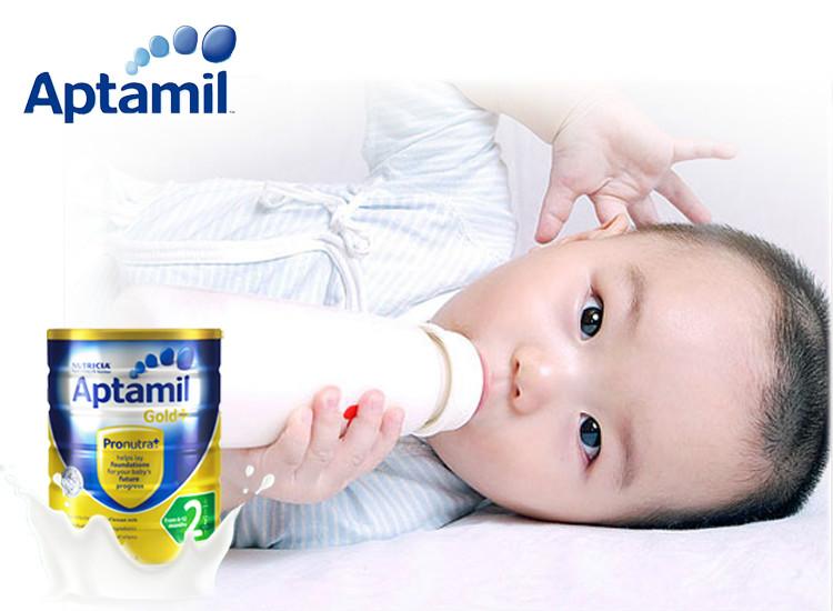 【直邮】Aptamil 澳洲爱他美 金装加强型婴幼儿配方奶粉(2段)6个月+900g